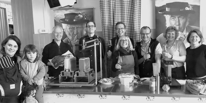 Raclette Jahrgangspräsentation Weingut Kaufmann